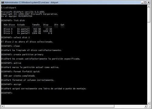 Windows 7 desde USB 1